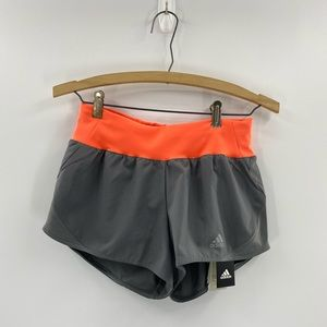 Dark Grey Adidas lined RUN IT SHORTS size XS